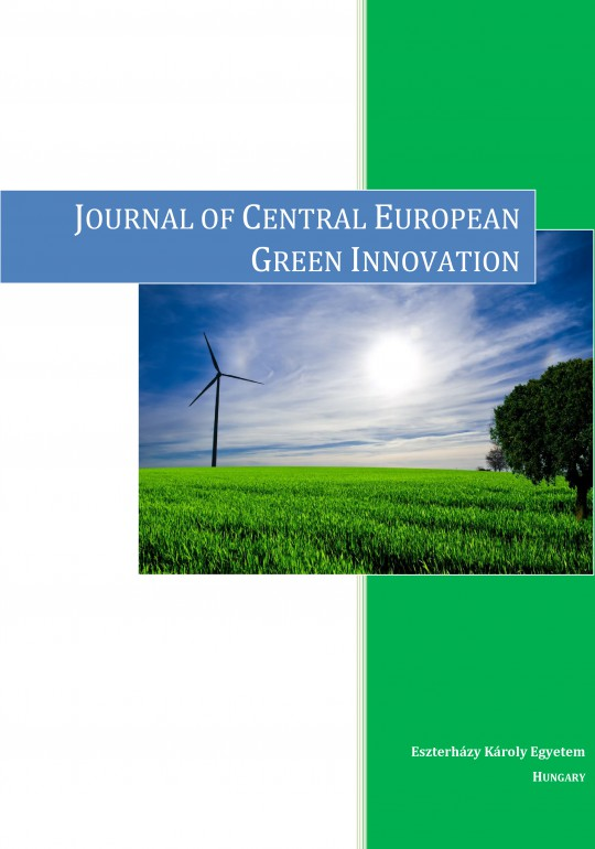 Journal of Central European Green Innovation